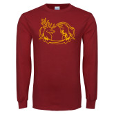 Cardinal Long Sleeve T Shirt-Stag and Athena Logo