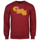 Cardinal Fleece Crew-CMS Stacked