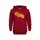 Youth Cardinal Fleece Hoodie-CMS Stacked