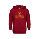 Youth Cardinal Fleece Hoodie-Athenas Volleyball
