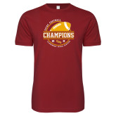 Next Level SoftStyle Cardinal T Shirt-2018 SCIAC Football Champions