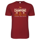 Next Level SoftStyle Cardinal T Shirt-2018 SCIAC Mens Soccer Champions