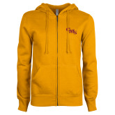ENZA Ladies Gold Fleece Full Zip Hoodie-CMS Stacked