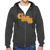 Charcoal Fleece Full Zip Hoodie-CMS Stacked