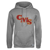 Russell DriPower Grey Fleece Hoodie-CMS Stacked