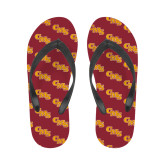 Ladies Full Color Flip Flops-CMS Stacked