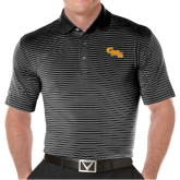 Callaway Core Stripe Black/White Polo-CMS Stacked