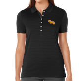 Ladies Callaway Opti Vent Black Polo-CMS Stacked