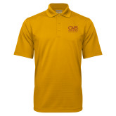 Gold Mini Stripe Polo-CMS Logo