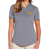Ladies Callaway Horizontal Textured Steel Grey Polo-CMS Stacked
