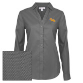 Ladies Red House Diamond Dobby Charcoal Long Sleeve Shirt-CMS Stacked