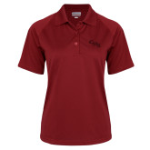 Ladies Cardinal Textured Saddle Shoulder Polo-CMS Stacked