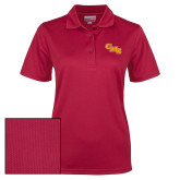 Ladies Cardinal Dry Mesh Polo-CMS Stacked