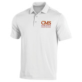 Under Armour White Performance Polo-CMS Logo