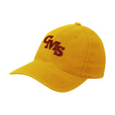 Gold Flexfit Mid Profile Hat-CMS Stacked