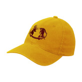 Gold Flexfit Mid Profile Hat-Stag and Athena Logo