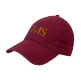 Cardinal Twill Unstructured Low Profile Hat-CMS Horizontal
