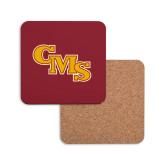 Hardboard Coaster w/Cork Backing-CMS Stacked