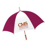 62 Inch Cardinal/White Umbrella-CMS Logo