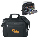Kenneth Cole Black Vertical Checkpoint Friendly Messenger-CMS Stacked