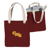 Allie Cardinal Canvas Tote-CMS Stacked