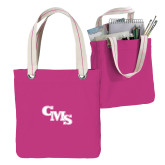 Allie Fuchsia Canvas Tote-CMS Stacked