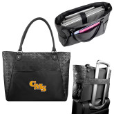 Sophia Checkpoint Friendly Black Compu Tote-CMS Stacked