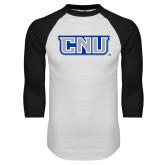 White/Black Raglan Baseball T-Shirt-CNU