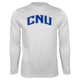 Performance White Longsleeve Shirt-Arched CNU