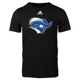 Adidas Black Logo T Shirt-Captain Head