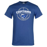 Royal T Shirt-Captains Basketball Arched w/ Ball