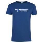 Ladies Royal T Shirt-Christopher Newport Alumni