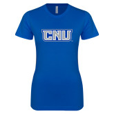 Next Level Ladies SoftStyle Junior Fitted Royal Tee-CNU