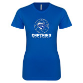 Next Level Ladies SoftStyle Junior Fitted Royal Tee-Captains Volleyball Stacked
