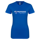Next Level Ladies SoftStyle Junior Fitted Royal Tee-Christopher Newport Alumni