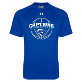Under Armour Royal Tech Tee-Captains Basketball Arched w/ Ball