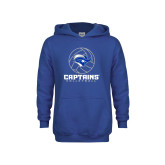 Youth Royal Fleece Hoodie-Captains Volleyball Stacked