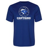 Performance Royal Tee-Captains Volleyball Stacked
