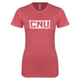 Next Level Ladies SoftStyle Junior Fitted Pink Tee-CNU