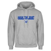 Grey Fleece Hoodie-Man The Ship