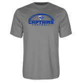 Performance Grey Concrete Tee-Captains Football