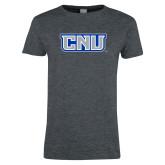 Ladies Dark Heather T Shirt-CNU