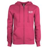 ENZA Ladies Fuchsia Fleece Full Zip Hoodie-CNU