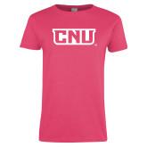 Ladies Fuchsia T Shirt-CNU