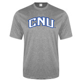 Performance Grey Heather Contender Tee-Arched CNU