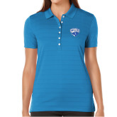 Ladies Callaway Opti Vent Sapphire Blue Polo-Official Logo
