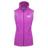 Columbia Ladies Full Zip Lilac Fleece Vest-CNU
