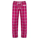 Ladies Dark Fuchsia/White Flannel Pajama Pant-CNU