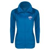 Ladies Sport Wick Stretch Full Zip Sapphire Jacket-Official Logo