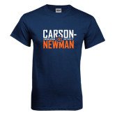 Navy T Shirt-Carson Newman Stacked